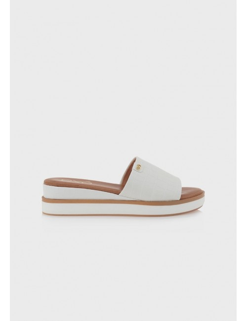 Γυναικείο παπούτσι flat EXE M47003802208 ΛΕΥΚΟ ΚΡΟΚΟ